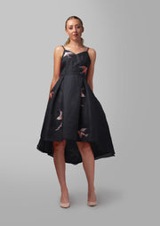 Embroidered Strap Dress - AGAATI
