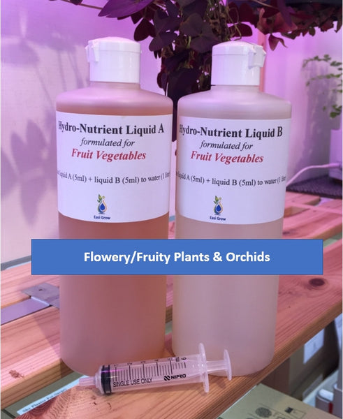 Hydroponic Nutrients Pack for Flower/Fruit Plants and Orchids