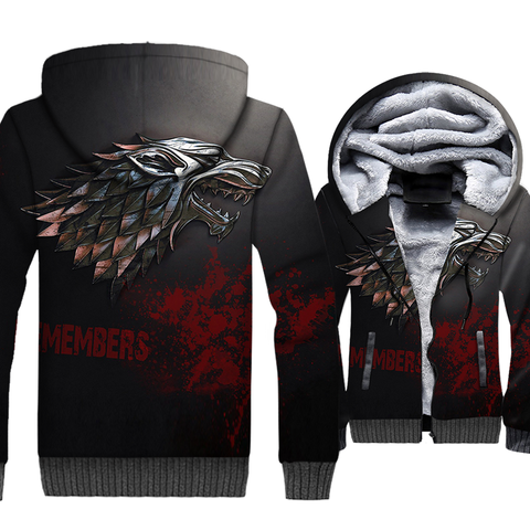 update alt-text with template **NEW for 2019** - EXCLUSIVE 3D The North Remembers ! Thrones Hoodie Fleece Jacket - 40% OFF +XTRA 30% OFF TODAY ONLY-jacket-Always-Amazing-North Remembers-M-Always-Amazing-Game-of-Thrones-Winter-Is-Coming-April-2019