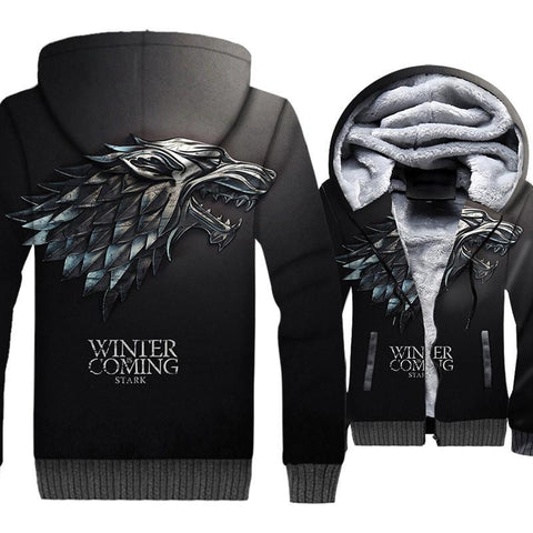 update alt-text with template **NEW** - EXCLUSIVE 3D Winter is coming! Thrones Hoodie Fleece Jacket - 40% OFF +XTRA 30% OFF TODAY ONLY-jacket-Always-Amazing-Winter is...-M-Always-Amazing-Game-of-Thrones-Winter-Is-Coming-April-2019