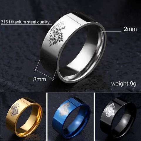 update alt-text with template House Stark Stainless Steel Ring (4 Colours) - 50% DISCOUNT-Ring-Always-Amazing-Always-Amazing-Game-of-Thrones-Winter-Is-Coming-April-2019