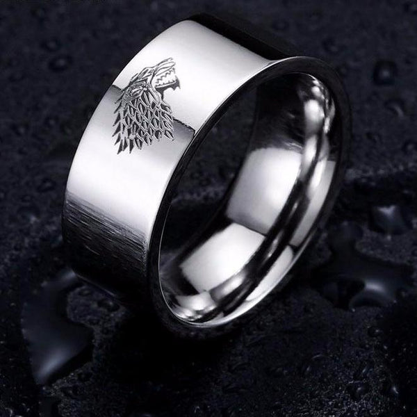 update alt-text with template House Stark Stainless Steel Ring (4 Colours) - 50% DISCOUNT-Ring-Always-Amazing-6-White-Always-Amazing-Game-of-Thrones-Winter-Is-Coming-April-2019