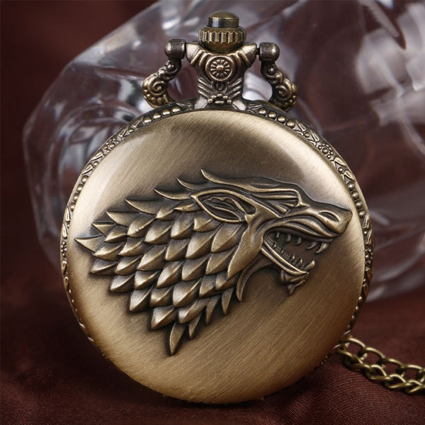 update alt-text with template House Stark Wolf Royal Pocket Watch - Perfect Gift For Stark's Fan. (Different Colors Available) - SAVE 60%-gift-Always-Amazing-Bronze-Always-Amazing-Game-of-Thrones-Winter-Is-Coming-April-2019