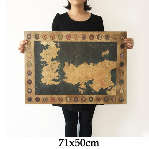 update alt-text with template Game of Thrones Vintage World Map Wall Art-artwork-Astounding Accessories-Always-Amazing-Game-of-Thrones-Winter-Is-Coming-April-2019
