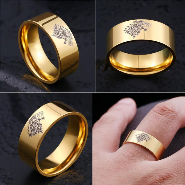 update alt-text with template House Stark Stainless Steel Ring (4 Colours) - 50% DISCOUNT-Ring-Always-Amazing-6-Gold-Always-Amazing-Game-of-Thrones-Winter-Is-Coming-April-2019