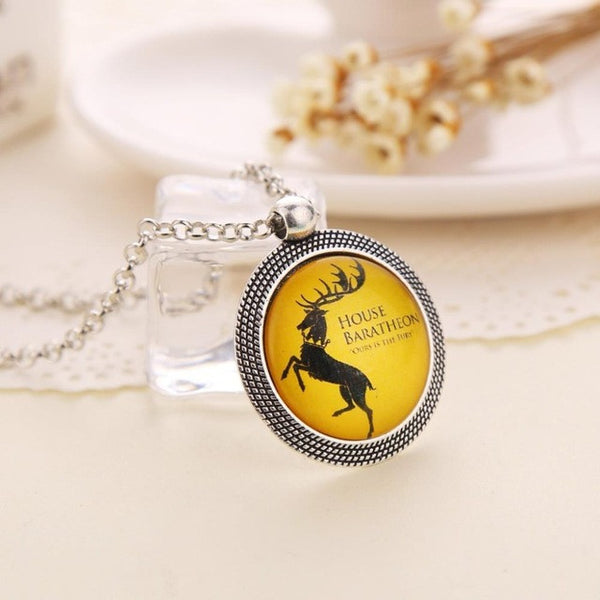 update alt-text with template Game of Thrones Family Coat of Arms Necklace...Choose Your House-Necklace-Astounding Accessories-Baratgeib Deer-Always-Amazing-Game-of-Thrones-Winter-Is-Coming-April-2019
