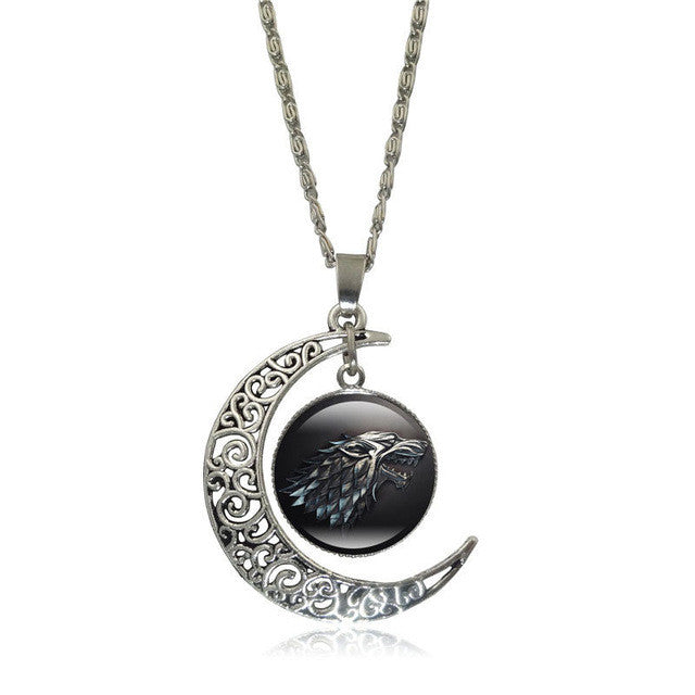 update alt-text with template Game of Thrones Glass Pendant Silver Color Crescent Moon-Necklace-Astounding Accessories-S5358-Always-Amazing-Game-of-Thrones-Winter-Is-Coming-April-2019