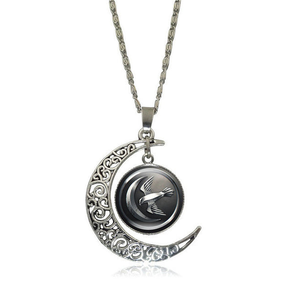 update alt-text with template Game of Thrones Glass Pendant Silver Color Crescent Moon-Necklace-Astounding Accessories-S5360-Always-Amazing-Game-of-Thrones-Winter-Is-Coming-April-2019
