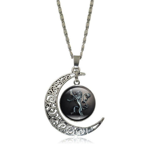 update alt-text with template Game of Thrones Glass Pendant Silver Color Crescent Moon-Necklace-Astounding Accessories-S5366-Always-Amazing-Game-of-Thrones-Winter-Is-Coming-April-2019
