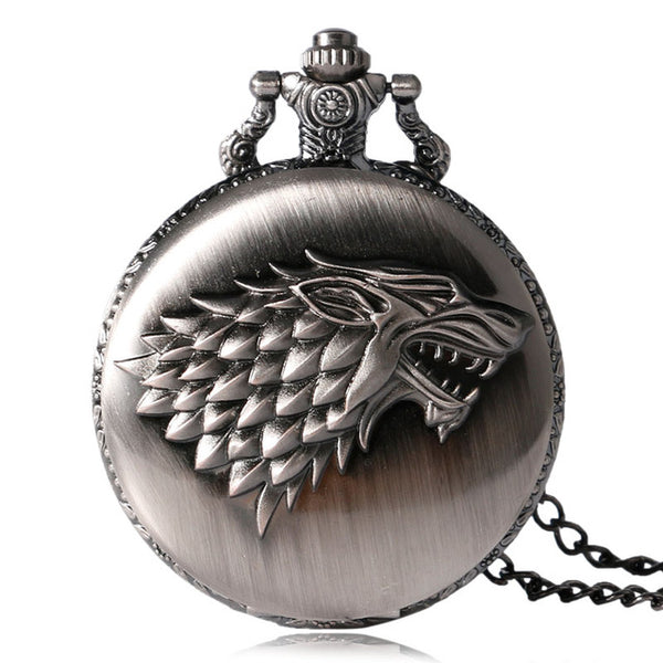 update alt-text with template House Stark Wolf Royal Pocket Watch - Perfect Gift For Stark's Fan. (Different Colors Available) - SAVE 60%-gift-Always-Amazing-Grey-Always-Amazing-Game-of-Thrones-Winter-Is-Coming-April-2019
