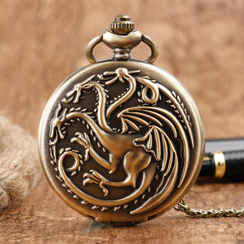 update alt-text with template House Targaryen Dragons Royal Pocket Watch - Perfect Christmas Gift For All Targaryens - SALE 60% OFF-gift-Always-Amazing-Always-Amazing-Game-of-Thrones-Winter-Is-Coming-April-2019