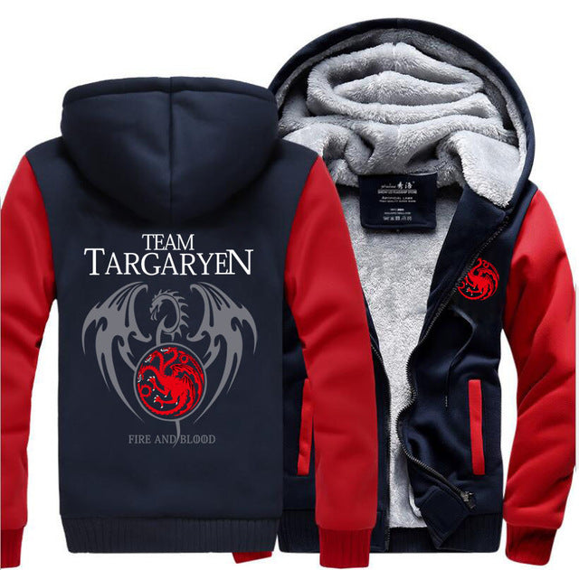 update alt-text with template Team Targaryen Hoodie Fleece Jacket - 40% OFF +XTRA 20% OFF LIMITED TIME-jacket-Always-Amazing-red dark blue-M-Always-Amazing-Game-of-Thrones-Winter-Is-Coming-April-2019