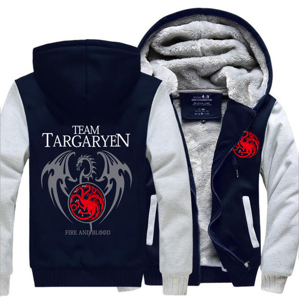 update alt-text with template Team Targaryen Hoodie Fleece Jacket - 40% OFF +XTRA 20% OFF LIMITED TIME-jacket-Always-Amazing-gray dark blue-M-Always-Amazing-Game-of-Thrones-Winter-Is-Coming-April-2019