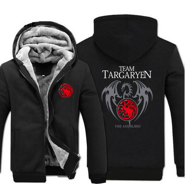 update alt-text with template Team Targaryen Hoodie Fleece Jacket - 40% OFF +XTRA 20% OFF LIMITED TIME-jacket-Always-Amazing-black-M-Always-Amazing-Game-of-Thrones-Winter-Is-Coming-April-2019