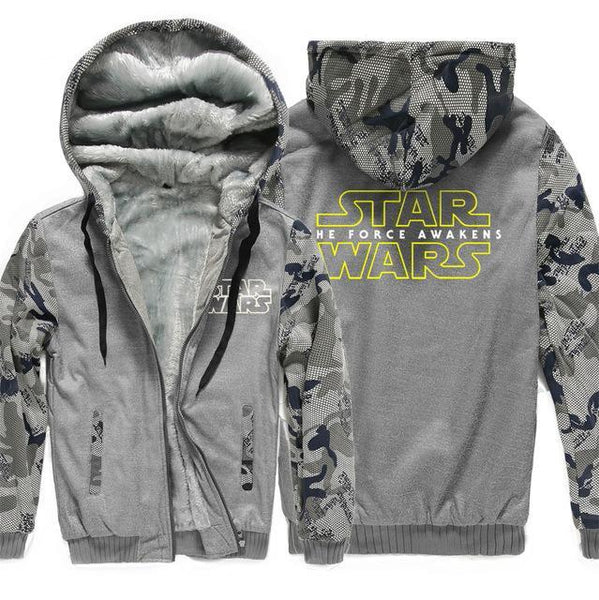 update alt-text with template **NEW DESIGN** - Star Wars Hoodie Fleece Jacket - 40% OFF +XTRA 20% OFF TODAY ONLY-jacket-Always-Amazing-dark gray 1-XL-Always-Amazing-Game-of-Thrones-Winter-Is-Coming-April-2019