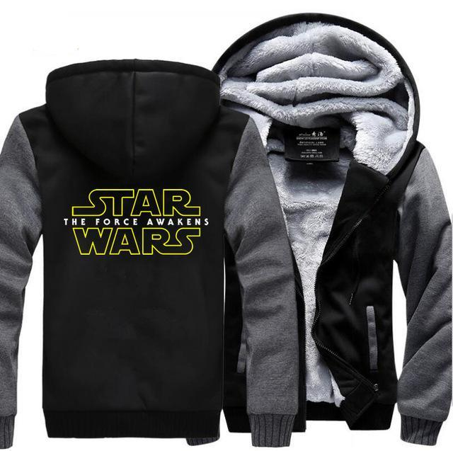 update alt-text with template Star Wars Hoodie Fleece Jacket - 40% OFF +XTRA 20% OFF TODAY ONLY-jacket-Always-Amazing-dark gray black-M-Always-Amazing-Game-of-Thrones-Winter-Is-Coming-April-2019