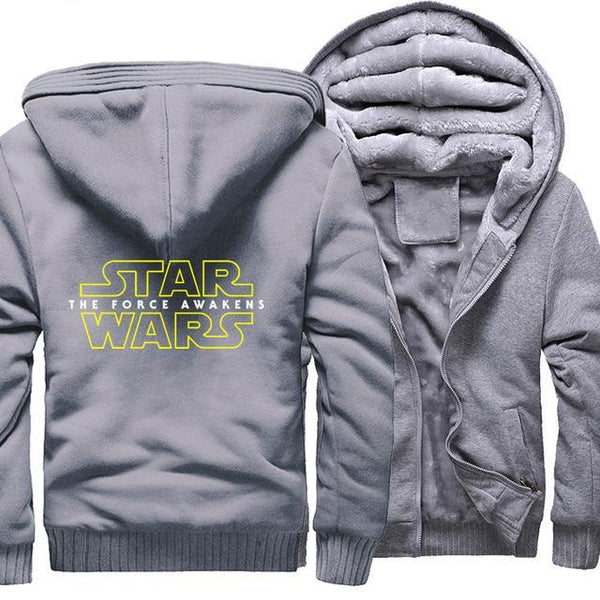 update alt-text with template Star Wars Hoodie Fleece Jacket - 40% OFF +XTRA 20% OFF TODAY ONLY-jacket-Always-Amazing-gray-M-Always-Amazing-Game-of-Thrones-Winter-Is-Coming-April-2019
