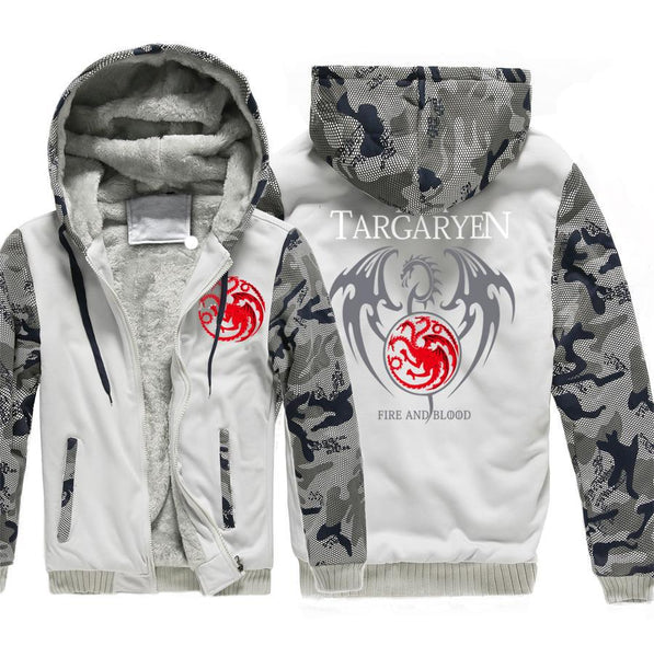 update alt-text with template Targaryen Dragons Hoodie Fleece Jacket - 40% OFF +XTRA 25% OFF TODAY ONLY-jacket-Always-Amazing-gray 1-XL-Always-Amazing-Game-of-Thrones-Winter-Is-Coming-April-2019