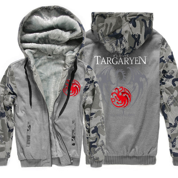 update alt-text with template Targaryen Dragons Hoodie Fleece Jacket - 40% OFF +XTRA 25% OFF TODAY ONLY-jacket-Always-Amazing-dark gray 1-XL-Always-Amazing-Game-of-Thrones-Winter-Is-Coming-April-2019