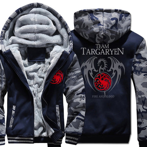 update alt-text with template Targaryen Dragons Hoodie Fleece Jacket - 40% OFF +XTRA 25% OFF TODAY ONLY-jacket-Always-Amazing-dark blue 1-XL-Always-Amazing-Game-of-Thrones-Winter-Is-Coming-April-2019