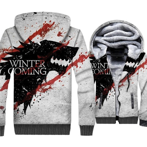 update alt-text with template **NEW for 2019** - Winter Is Coming! Snow Camouflage Thrones Hoodie Fleece Jacket - 40% OFF + XTRA 30% OFF Limited time!-hoodie-Always-Amazing-Winter Is Coming-M-Always-Amazing-Game-of-Thrones-Winter-Is-Coming-April-2019