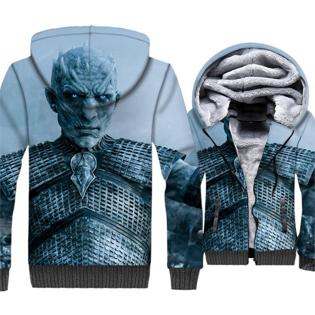update alt-text with template **NEW for 2019** - EXCLUSIVE 3D White Walkers are coming! The Night King Thrones Hoodie Fleece Jacket - 40% OFF +XTRA 30% OFF TODAY ONLY-jacket-Always-Amazing-Night King-M-Always-Amazing-Game-of-Thrones-Winter-Is-Coming-April-2019