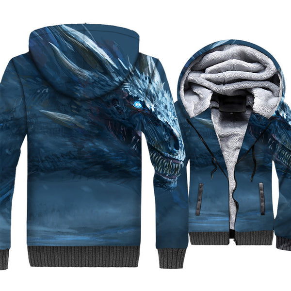 update alt-text with template **NEW for 2019** - EXCLUSIVE 3D White Walkers are coming! The Night King Thrones Hoodie Fleece Jacket - 40% OFF +XTRA 30% OFF TODAY ONLY-jacket-Always-Amazing-Night King Dragon-M-Always-Amazing-Game-of-Thrones-Winter-Is-Coming-April-2019