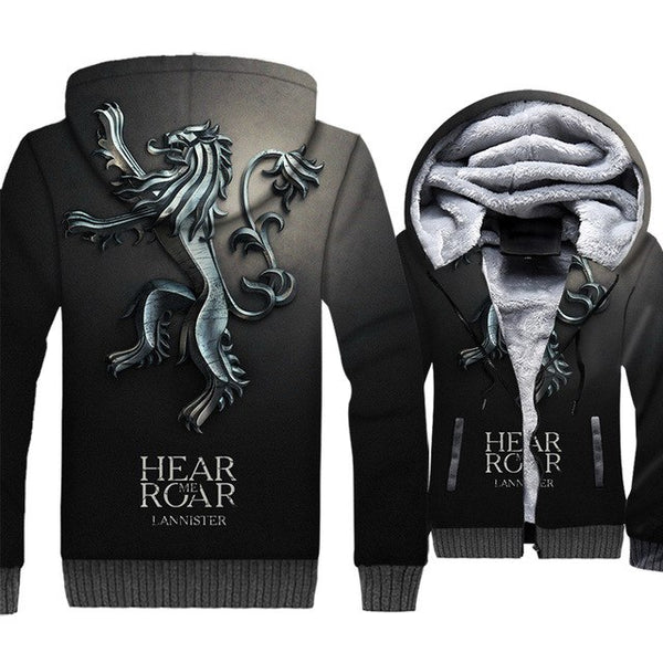 update alt-text with template **NEW for 2019** - EXCLUSIVE 3D Lannister Hear Me Roar! Thrones Hoodie Fleece Jacket - 40% OFF +XTRA 30% OFF TODAY ONLY-jacket-Always-Amazing-JR3-135-LK-M-Always-Amazing-Game-of-Thrones-Winter-Is-Coming-April-2019