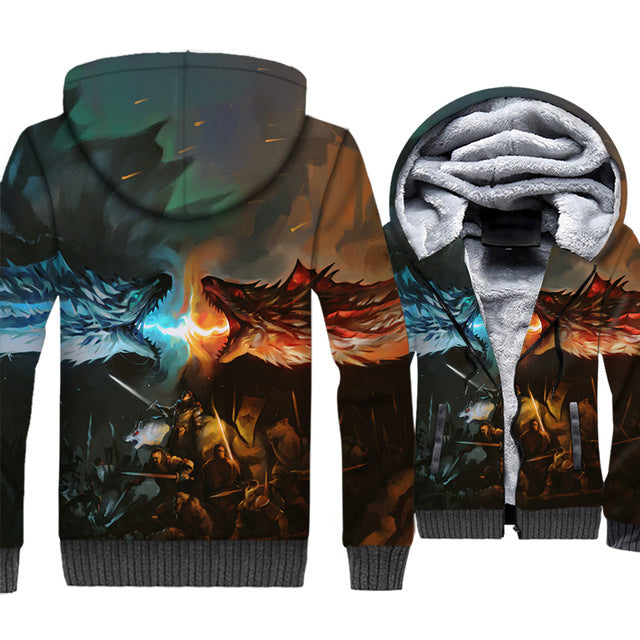 update alt-text with template **NEW for 2019** - EXCLUSIVE 3D Targaryen Dragon Hoodie Fleece Jacket - 40% OFF +XTRA 30% OFF ALL THREE CHOICES TODAY ONLY-jacket-Always-Amazing-ICE AND FIRE-M-Always-Amazing-Game-of-Thrones-Winter-Is-Coming-April-2019