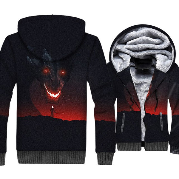 update alt-text with template **NEW for 2019** - EXCLUSIVE 3D Targaryen Dragon Hoodie Fleece Jacket - 40% OFF +XTRA 30% OFF ALL THREE CHOICES TODAY ONLY-jacket-Always-Amazing-GLOWING DRAGON-L-Always-Amazing-Game-of-Thrones-Winter-Is-Coming-April-2019