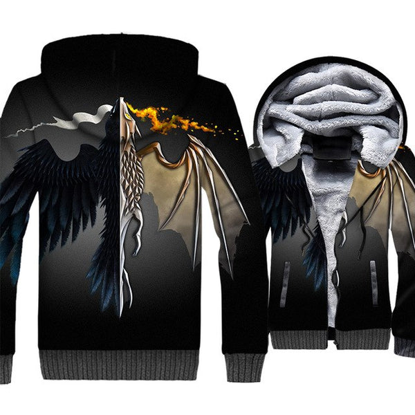 update alt-text with template **NEW for 2019** - EXCLUSIVE 3D Targaryen Dragon Hoodie Fleece Jacket - 40% OFF +XTRA 30% OFF ALL THREE CHOICES TODAY ONLY-jacket-Always-Amazing-FLYING DRAGON-M-Always-Amazing-Game-of-Thrones-Winter-Is-Coming-April-2019