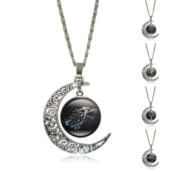 update alt-text with template Game of Thrones Glass Pendant Silver Color Crescent Moon-Necklace-Astounding Accessories-Always-Amazing-Game-of-Thrones-Winter-Is-Coming-April-2019