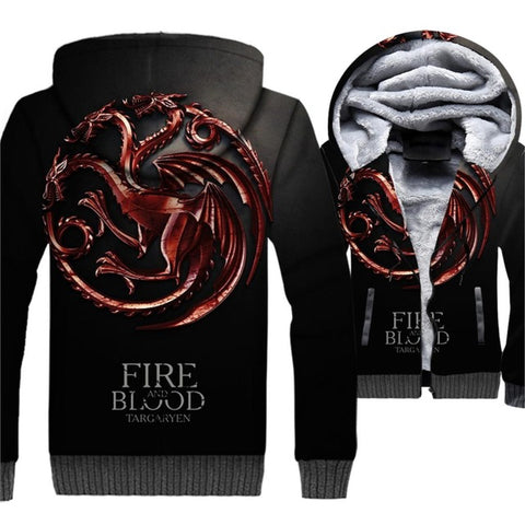 update alt-text with template **NEW** - EXCLUSIVE 3D Targaryen Fire And Blood Dragon Fleeced Jacket - 40% OFF +XTRA 30% OFF Limited Time ONLY-jacket-Always-Amazing-Red Dragon-XL-Always-Amazing-Game-of-Thrones-Winter-Is-Coming-April-2019