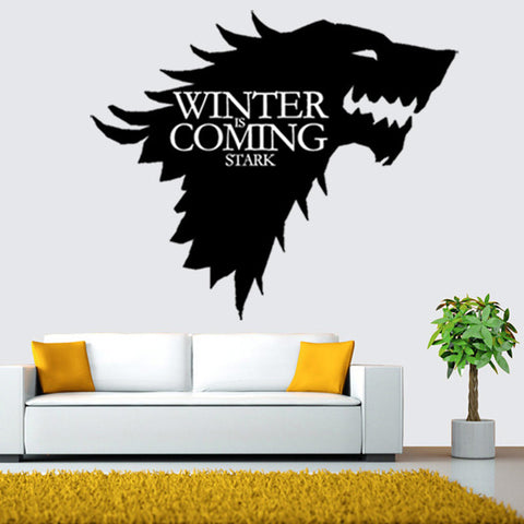 update alt-text with template Game of Thrones Black Removable Wall Vinyl Mural-artwork-Astounding Accessories-Always-Amazing-Game-of-Thrones-Winter-Is-Coming-April-2019