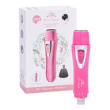 PREMIUM [Upgrade Version] WATERPROOF Painless Facial Hair Removal For Women | Nose Trimmer - Portable Body And Facial Hair Remover FOR Peach Fuzz, Chin Hair, Upper Lip Mustaches (Pink) [UPC: 617566390454]]