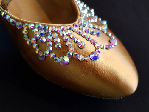 Stoning Tips for Shoes Part 2 - Ballroom Shoe Decorating