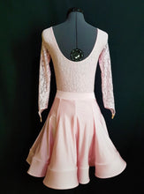 Juvenile Dress with Lace & Crinoline - Pale Pink - Girls Size 8