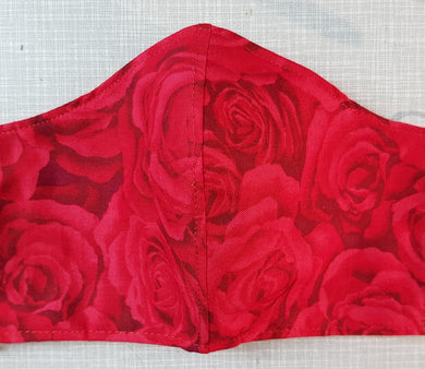 Face Mask - Red Roses on Red - More coming