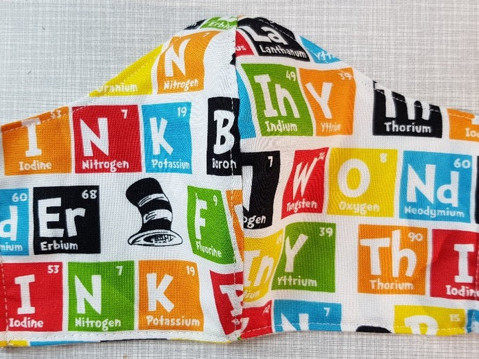 Face Mask - Periodic Table - Dr Seuss