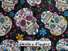 Face Mask - Skulls & Flowers