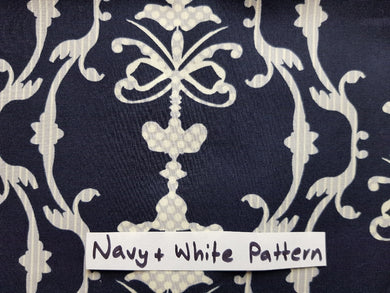 Face Mask - Navy & White Pattern