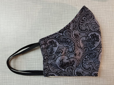 Face Mask - Paisley Grey