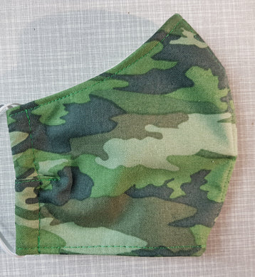 Face Mask - Green Camouflage