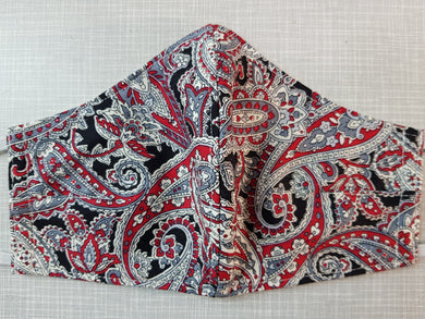 Face Mask - Paisley Red