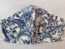Face Mask - Paisley Blue