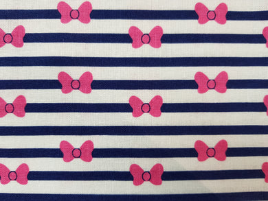 Face Mask - Minnie Mouse - Pink Bow Stripes