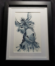 """Donkey""- Framed Watercolour Painting"