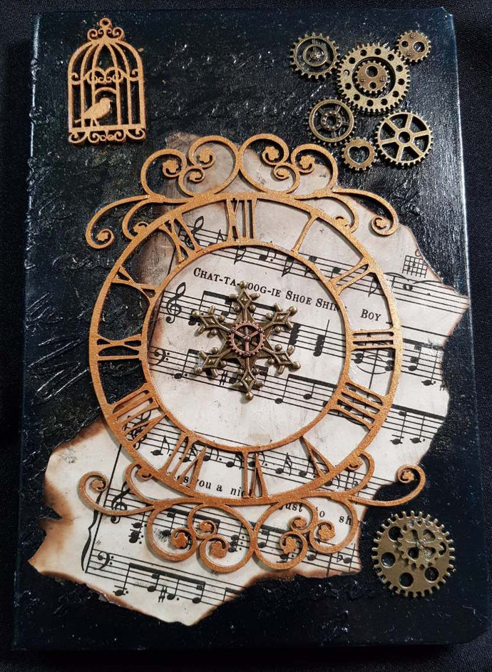 Music-Themed Steampunk Lined Journal