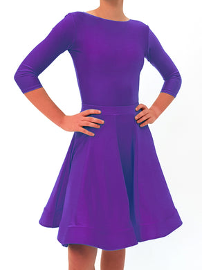 Juvenile Dress with Lycra & Crinoline - Purple - Girls Size 10