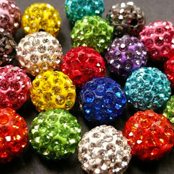 Diamante Ball Beads - MORE COLOURS COMING SOON